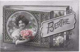 PRENOM - BERTHE - Fleurs En Relief - Prénoms