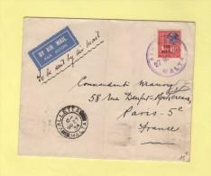 Air Mail - Par Avion - Malte Paris - Valetta Malta - 27 Octobre 1934 - Malta (...-1964)