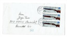 DDR Mi.Nr.2376-81(Jagdgewehre)ls Zusammendrucke Auf 2  Briefen - Covers