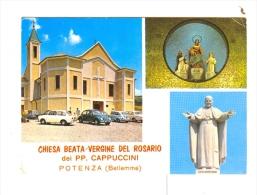 Chiesa Beata Vergine del ROSARIO dei PP.Cappuccini-POTENZA(Betlemme)-1970-Auto-CAR-FIAT-WW-!!!