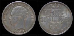 Belgium Leopold III 50 Frank 1940 VL/FR Pos A - 1934-1945: Leopold III
