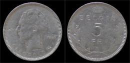Belgium Leopold III 5 Frank 1936 VL- Pos A - 1934-1945: Leopold III