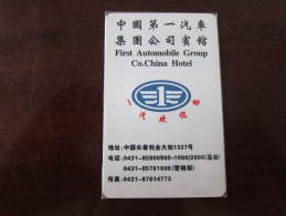 The First Automobile Group Co. China Hotel - Cartas De Hotels
