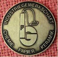 Gelegenheitsmedaille Aus Massiv Silber -  Industriegewerkschaft Chemie Papier Keramik  -  Als Dank Für 25 Jährige Treue - Allemagne