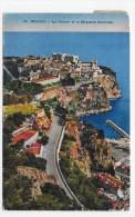 (RECTO / VERSO) MONACO EN 1932 - N° 36 - LE ROCHER ET LA MOYENNE CORNICHE -  CACHET ET TIMBRE DE MONACO - Mónaco