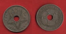 + BELGIQUE + CONGO BELGE  +  10 CTS  1921 + - 1909-1934: Albert I