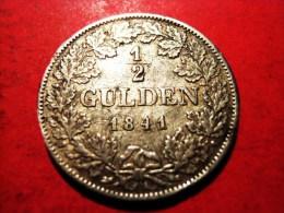 BADEN 1/2 Gulden 1841 Leopold (1830-1852) - [ 1] …-1871: Altdeutschland