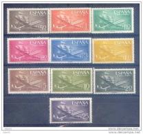 ES1169-LB083.Espagne,Spain.Aviones.Barcos.SUPER CONSTELLATION  Y NAO SANTA MARIA 1955/56.(Ed. 1169/79**)sin Charnela - Barcos