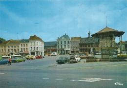 Braine-le-Comte - La Place Et ... Le Kiosque - Voitures , Années 70 - Braine-le-Comte