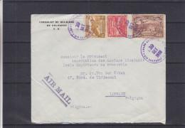 Avions - Café - églises - Salvador - Lettre De 1938 ° - Consulat De Belgique Au Salvador - El Salvador