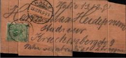 ! 1891 Krone Adler 5 Pfg. Auf Einer Streichholzschachtel Halle/S. Matchbox, Allumettes, Deutsches Reich, Jönköping - Germany