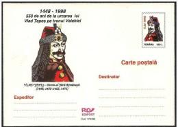 Romania/Roumanie: Intero, Stationery, Entier, Dracula, Vlad Tepes - Celebrità