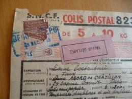 France Marcophilie 3 TP Colis Postaux Sur Recommandé SNCF 1938 Bergerac à Paris - Spoorwegzegels