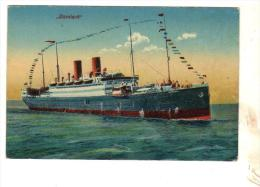 """Cpa 3  CLEVELAND """" CONSTRUIT EN 1909 Allemagne HAMBURG AMERIKA LINE Paquebot - Dampfer"""