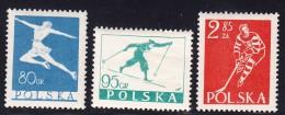 Poland 1953 Fi 696-98 Winter Sports Figure Skating Cross-country Skiing Hockey Full Of Set MNH** - Hiver
