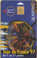 Telefoonkaart - Frankrijk - France Telecom – Télecarte 50 - Tour De France 97 - 5 - 27 Juli 1997 - Deportes