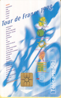 Telefoonkaart - Frankrijk - France Telecom – Télecarte 50 - Tour De France 1998 - 11 Juli - 2 Augustus 1998 - Sport
