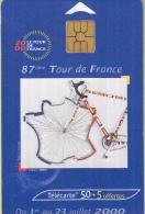 Telefoonkaart - Frankrijk - France Telecom – Télecarte 50 - Tour De France 2000 - 1 - 23 Juli 2000 - Sport