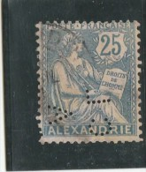 ALEXANDRIE YT 27  OBLITERE PERFORE PERFIN PERFORES CLA