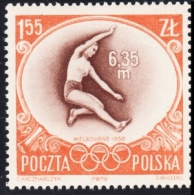 Poland 1956 Fi 849 Olympics In Melbourne Long Jump Athletics MNH** - Jumping