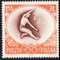 Poland 1956 Fi 849 Olympics in Melbourne long jump athletics MNH**