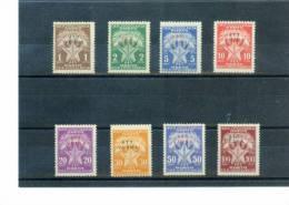 Triest Zone B (STT-VUJA) 1952 Portomarken / Postage Due Set Michel 11-18 Postfrisch / MNH - Ungebraucht