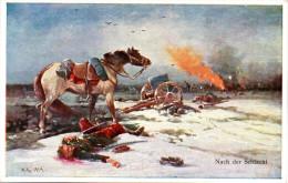 """Original Farb.Künstler-Karte """"Nach Der Schlacht"""", Ungebraucht - Guerre 1914-18"""