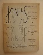 Revue Littéraire Français/Anglais - Directeurs Elliott Stein, Daniel Mauroc - JANUS No 1 Mars 1950 - Illu. J. Boullet - Livres, BD, Revues