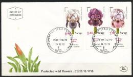 Israel  - FDC     - Mi.Nr.     782 - 784     Naturschutz: Schwertlilien - FDC