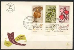 Israel  - FDC     - Mi.Nr.    184 - 186     Jüdische Festtage: Früchte - FDC