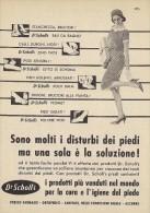 # DR.SCHOLL'S FOOT CARE SHOES 1950s Italy Advert Pub Pubblicità Reklame Pieds Chaussures Piedi Scarpe Schuhe Fusse - Advertising