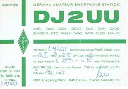 QSL - GERMANY - DJ2UU -  HANSGEORG BÄHR -  HANAU - 1969 - Radio Amatoriale