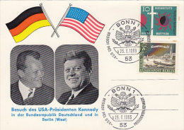 PRESIDENT KENNDEY´S VISIT TO WEST GERMANY AND BERLIN, SPECIAL POSTCARD, 1963, GERMANY - BRD