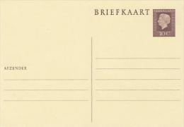 QUEEN JULIANA, PC STATIONERY, ENTIER POSTAL, UNUSED, NETHERLANDS - Postal Stationery