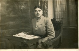 Militaria CARTE PHOTO RJ  CAPORAL 411 EME REGIMENT D' INFANTERIE 1914 2 Scans.... Cl - Régiments