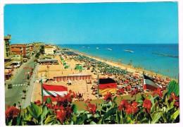 H3011 Igea Marina (Rimini) - Panorama Della Spiaggia - Beach Plage Strand Playa - Bandiere Flag Drapeau / Viaggiata 1979 - Autres Villes