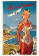 MONTREUX (Suisse) - CPSM Rare édition FORNEY - Illustrateur; BRENOT - Carte En Etat TB. - VD Vaud