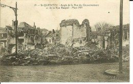 CPA  ST QUENTIN, Angle De La Rue  Du Gouvernement Et De La Rue Raspail 1452 - St. Quentin En Yvelines