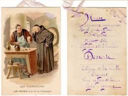 Chromo : Les Vignerons, Dom Pérignon Et Le Vin De Champagne ( Texte Au Verso : Menu ) - Autres