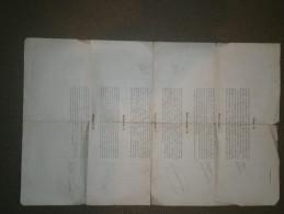 Feuille Avec Modèles De Police D'imprimerie - Vieux Papiers