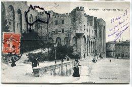 - Avignon - Le Palais Des Papes, Animation, écrite En 1908, TBE, Peu Courante, é - Avignon (Palais & Pont)