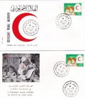 FDC -  CROISSANT ROUGE ALGERIEN  - ALGER  RP.1   27 MAI   1967  - REF MSTROGUES - Algeria (1962-...)