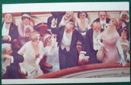 LITHO EPAISSE Illustrateur GUILLAUME  Les Retardataires Selectacolor 723 Couple En Retard Theatre - Guillaume