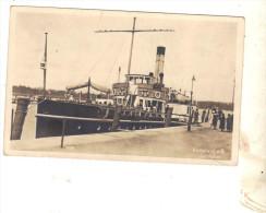 Cpa ANIMEE KONSTANZ A B JM HAFEN BATEAU ALLEMAND PASSAGERS CARTE PHOTO ORIGINALE - Dampfer