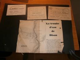 5 Documents DIVERS Commerciaux ET AUTRES VERVIERS DISON - - Vieux Papiers