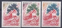 MONACO - Yvert - 871/73** - Cote 1,85 € - Kerstmis