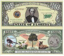 Billet de collection USA NM-125 Florida State Million Dollars Paper Money Collector unc