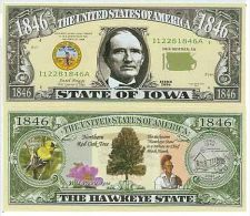 Billet de collection USA NM-129 Iowa State Million Dollars Paper Money Collector unc