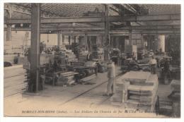 10 - ROMILLY SUR SEINE - Les Ateliers Du Chemin De Fer De L´Est - La Menuiserie - 1916 - Romilly-sur-Seine