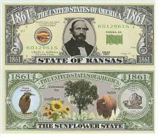 Billet de collection USA NM-133 Kansas State Million Dollars Paper Money Collector unc